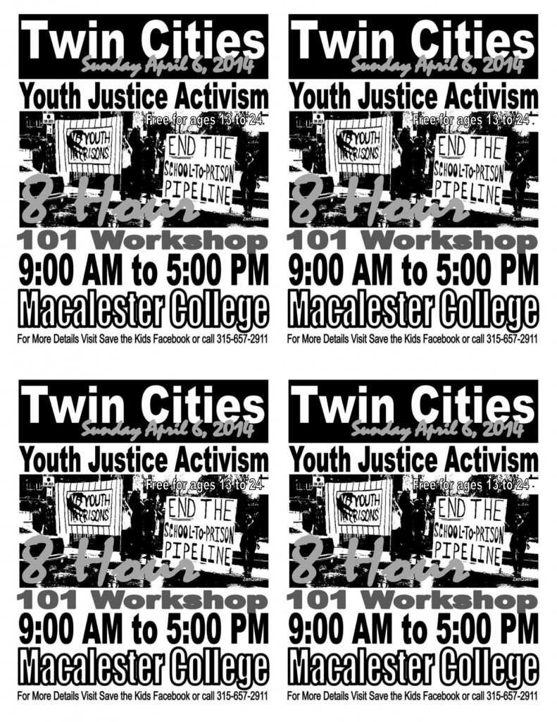 4 sheet youth justice workshop