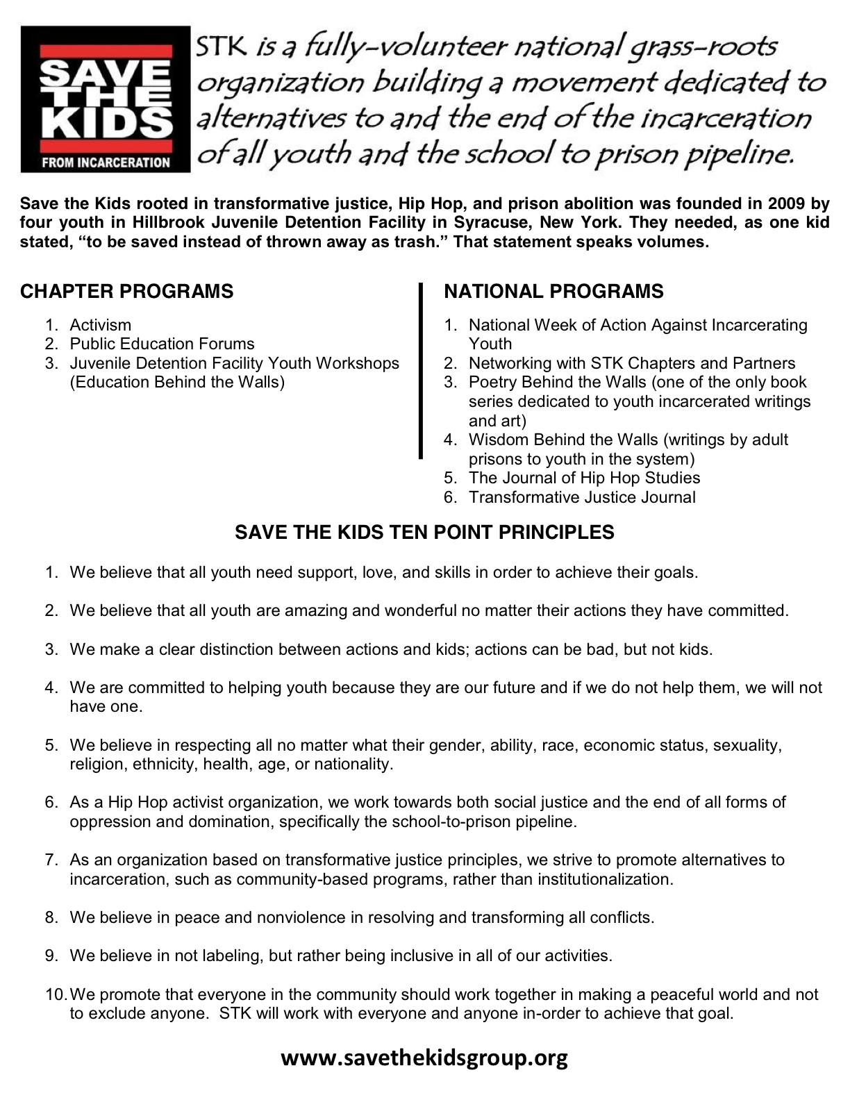 Save the Kids Flyer