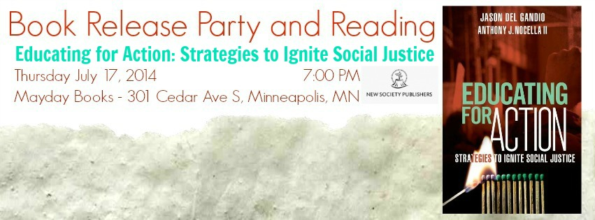 July 17 Book Release and Reading by Authors of Educating for Action at Mayday Books, Minneapolis