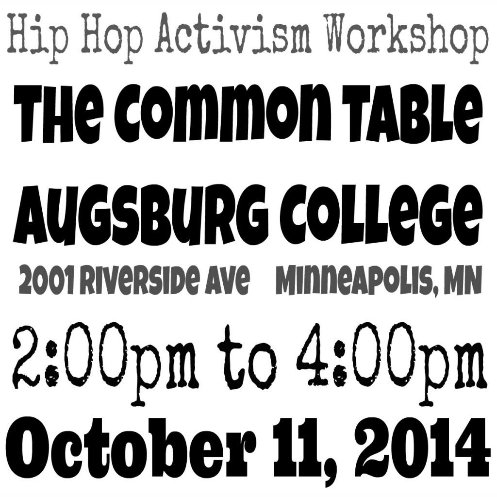 hip hop activism workshop flyer