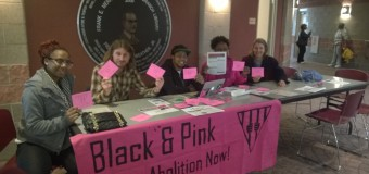 Buffalo Save the Kids tables with Black and Pink
