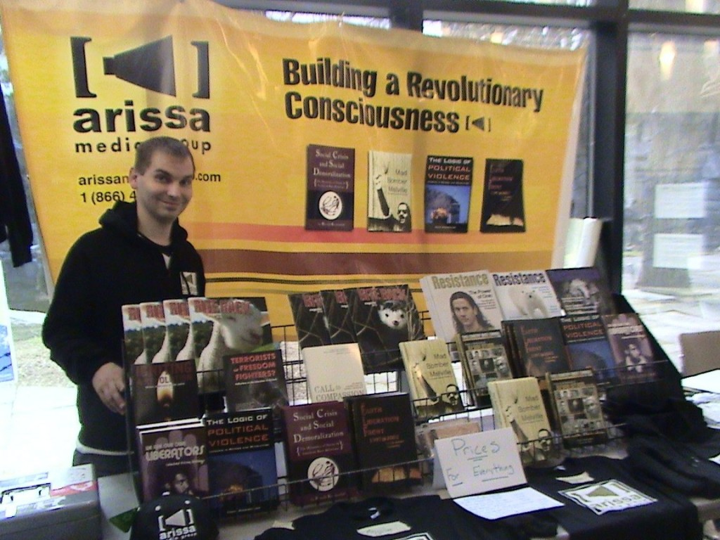 arissa tabling with Anthony Nocella