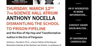 Lecture Canisius College March 12 – Dismantling the School to Prison Pipeline and the Rise of Hip Hop and Transformative Justice in the Era of Ferguson