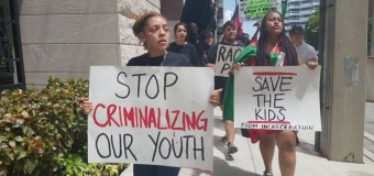 Miami STK protest the School to Prison Pipeline and for Sandra Bland Aug 8, 2015