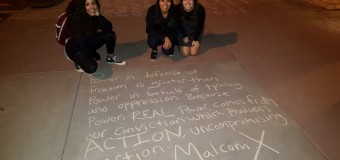 Durango Save the Kids with Black Student Union, and Students at Fort Lewis College Organized a Vigil for Malcolm X February 21, 2016