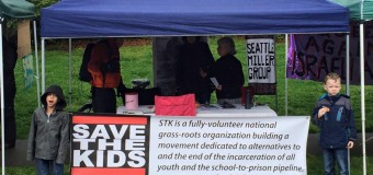 Protest Against Renovation of Youth Jail by Seattle Save the Kids on March 8, 2016