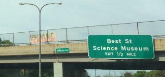 May 20 Activists in Buffalo Hold a Banner on a Bridge for the NWAAIY