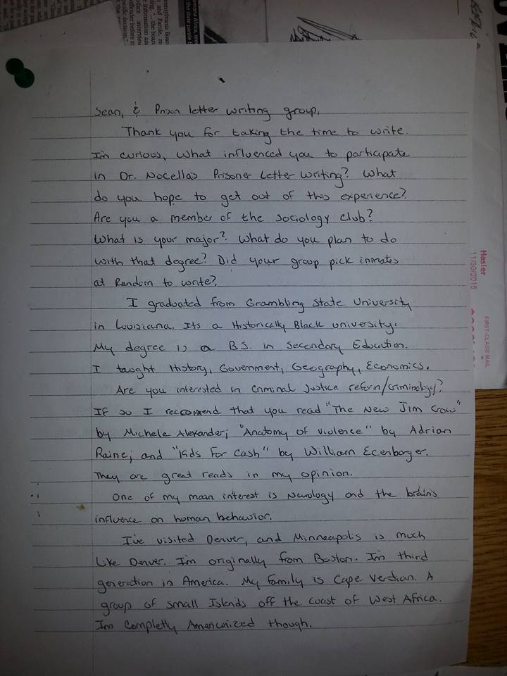 Letter to J. Young
