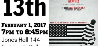 Feb. 1 – Free Screening of 13th at Fort Lewis College, Durango, CO