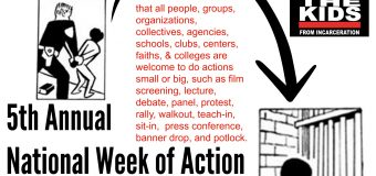 2017 5th Annual National Week of Action Against Incarcerating Youth