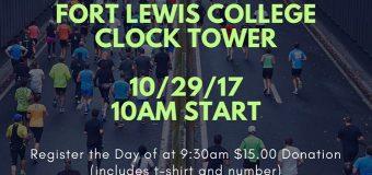 10/29/17 Durango, CO – Schools Not Prisons 5K Fun Run @ Fort Lewis College 10am