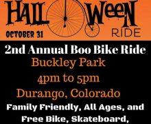 10/31/17 4pm-5pm Durango, CO – 2nd Annual Boo Bike Ride