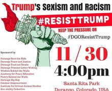 10/30/17 – Durango – Mass Protest Against Trump's Racism and Sexism