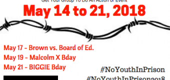 2018 6th Annual National Week of Action Against Incarcerating Youth