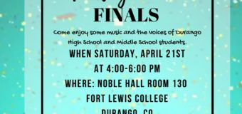 April 21, 2018 – Durango 1st Annual Youth Poetry Slam Finals