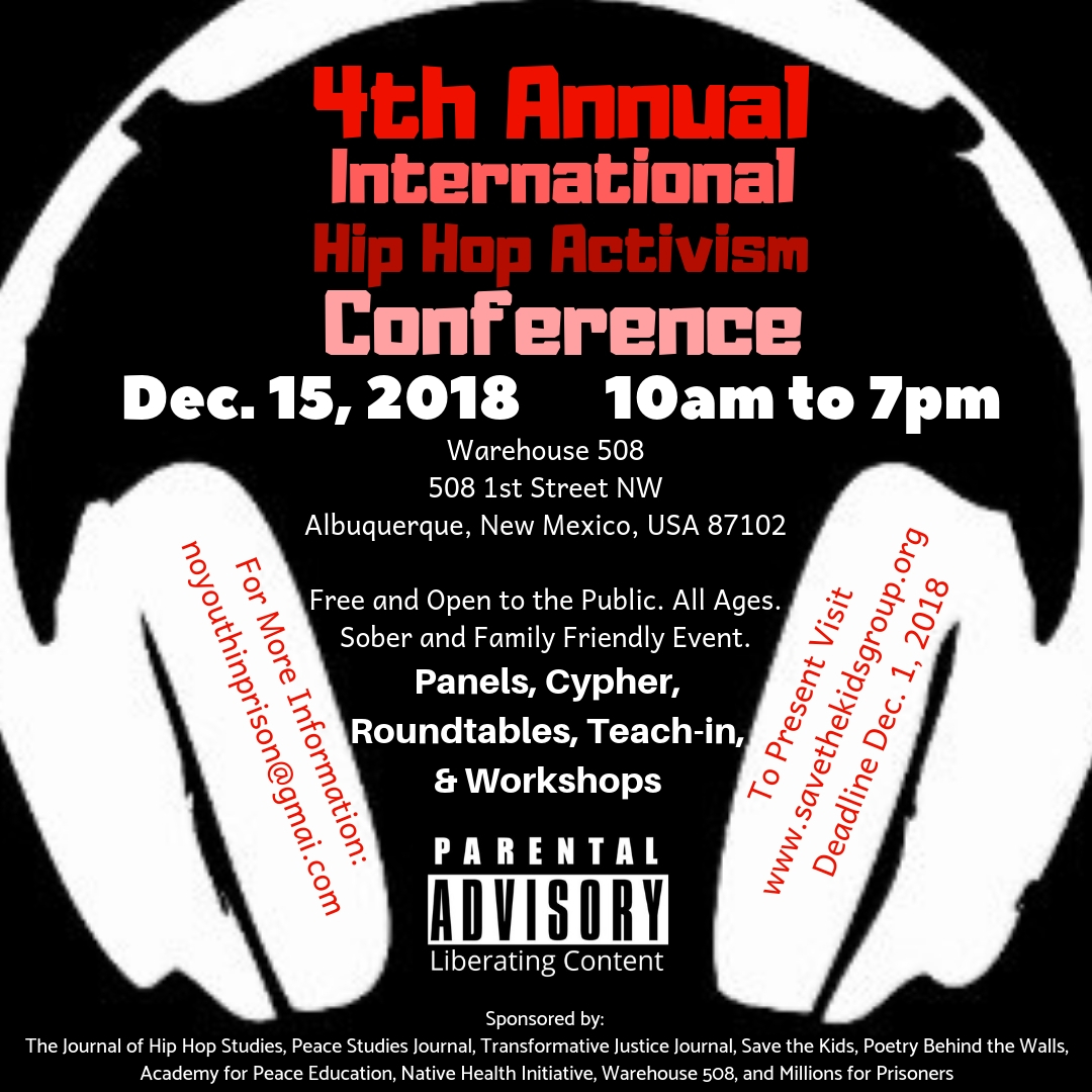 Dec. 15, 2018 – 4th Annual International Hip Hop Activism Conference