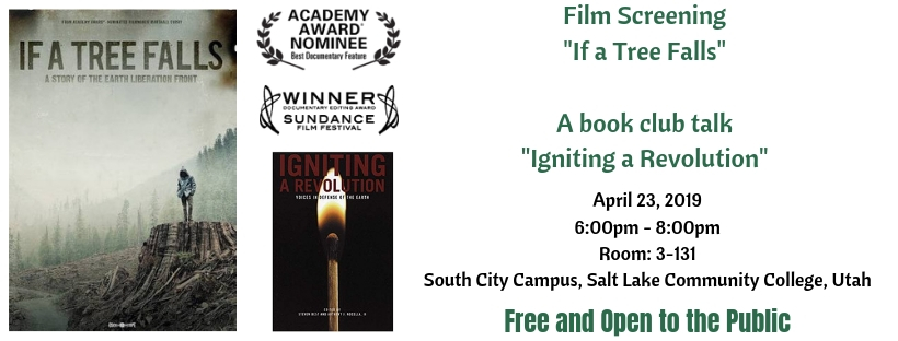 Salt Lake City, Utah – Film Screening – April 23, 2019 – If a Tree Falls