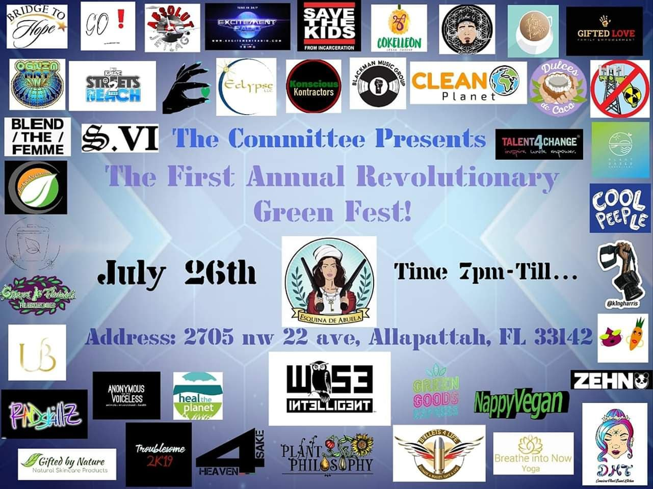 Miami, FL – July 26, 2019 – First Ever Revolutionary Green Fest