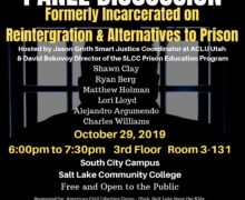 Panel Discussion by Formerly Incarcerated Adults on Alternatives to Incarceration October 29, 2019