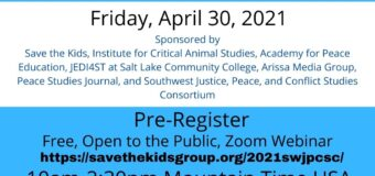 April 30, 2021 – 1st Annual Southwest Justice, Peace, and Conflict Studies Conference