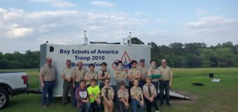 Donation to Bastrop, Texas Scout Troop 2010